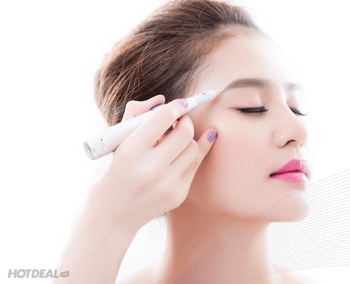 Quy trình : 40-60 phút - Bước 1 : Kiểm tra hình dáng lông mày (5') - Bước 2  : Chụp lại khuân mặt của khách hàng và Thiết kế hình dáng lông mày trên  phần mềm ...