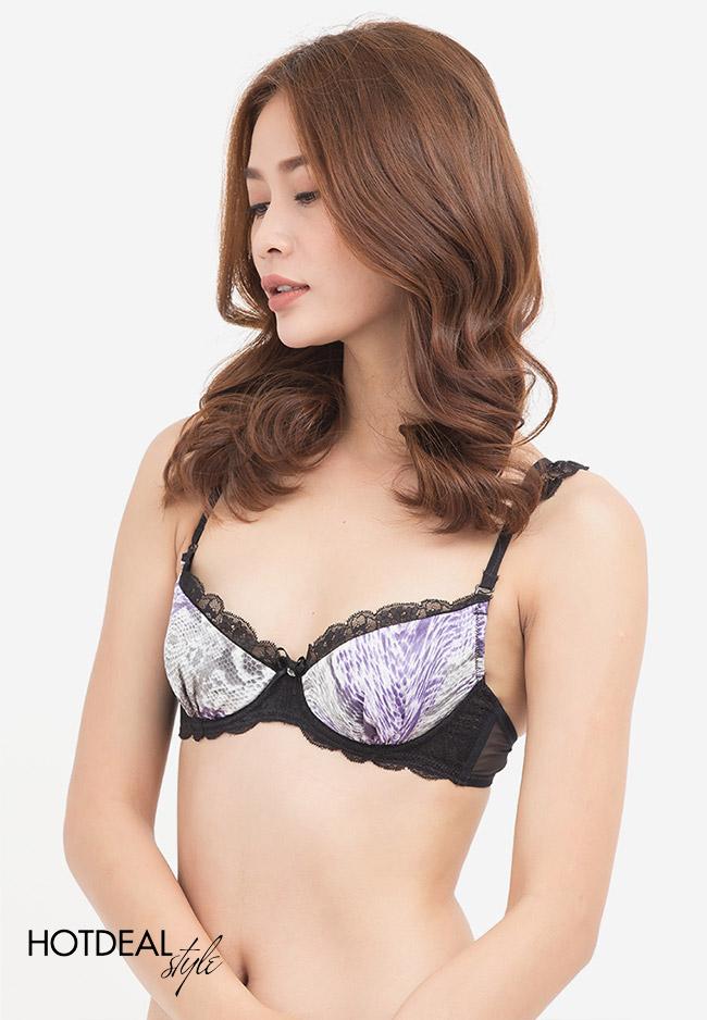 Áo Ngực Mút Mỏng Nâng Ngực Phối Ren Sexy ANC0074N - TH Chính Hãng Vera